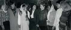 Meeting with COMADRES, Mothers of the Disappeared of El Salvador in 1984.