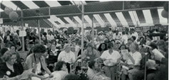 Women at the Peace tent, Nairobi, 1985. UN Decade for Women Final Conference.