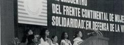 Delegation of US women to an international women's meeting in Cuba.
