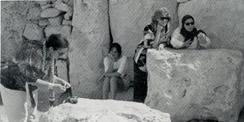 Association of Women of the Mediterranean Region at the temple ot the goddess in Malta.