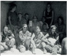 Cynthia Burckhardt and some of the women of the affinity group, led by Pamela Overynder, which built the straw bale temple in Nevada.