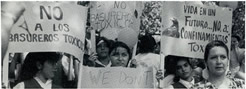 March of children from Acuma, Mexico protesting at the Texas Governor's Mansion, the proposed nuclear waste dump in Sierra Blanca, Texas. June 5, 1996.