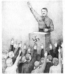 Figura 28. Il saluto nazista è un chiaro esempio di braccia (o armi) falliche uno-molti.