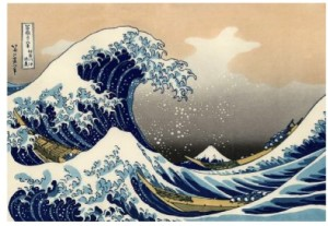 """Figure 1. """"Great Wave off Kanagawa"""", """"SOURCE: I am indebted to """"Mathematical Paintings and Sculptures,"""" posted 12 July 2009 and accessed 17 March 2010, for picking up on this example of fractals in action."""